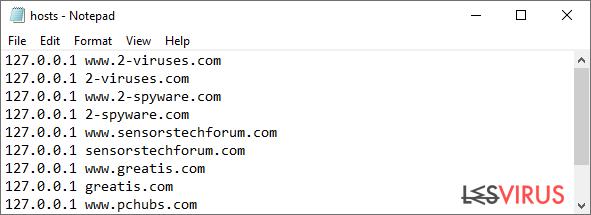 Rançongiciel : modification ou suppression du fichier hôte