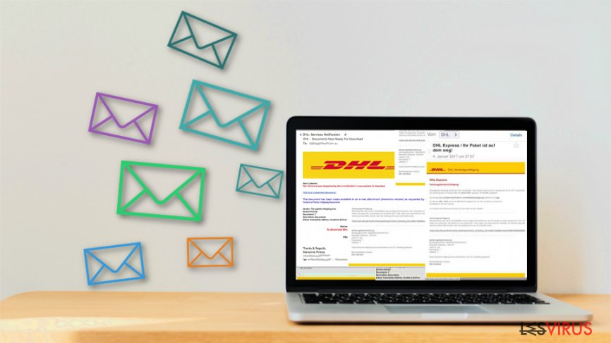 Fake emails mimic DHL shipment notifications
