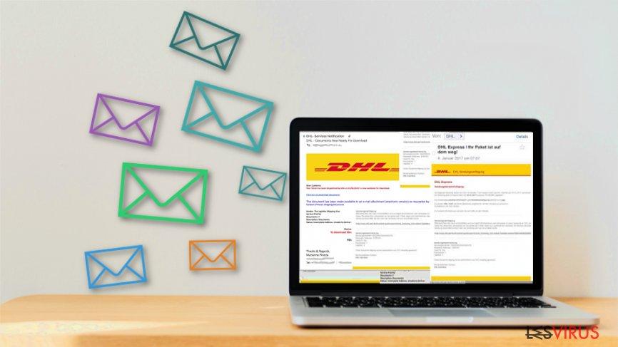 Les escrocs se préparent pour Noël - méfiez-vous des faux E-mails de colis DHL