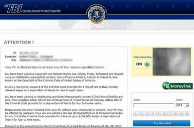 FBI ransomware scam has reached FBI attention