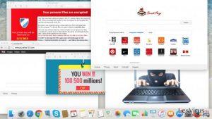 Les Cyber-menaces que vous devez éviter cette année: les adwares, les pirates de navigateur et les rançons-logiciels