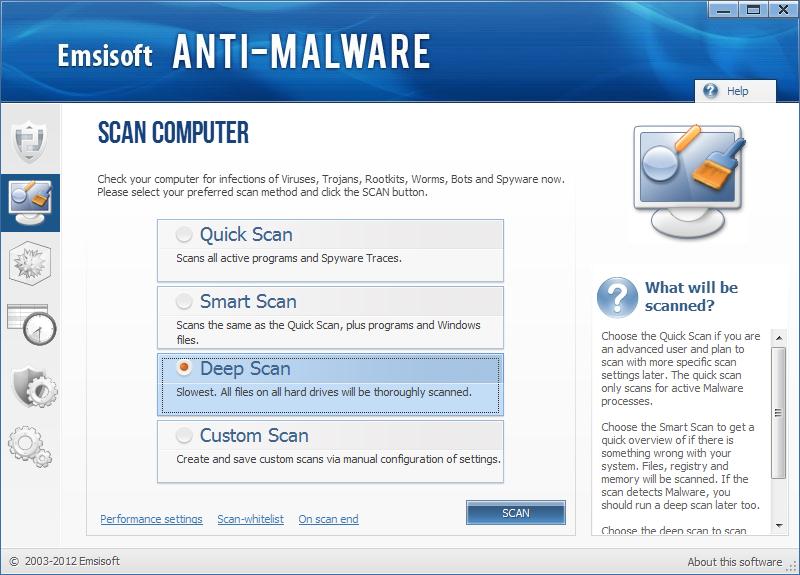 Emsisoft Anti Malware instantané