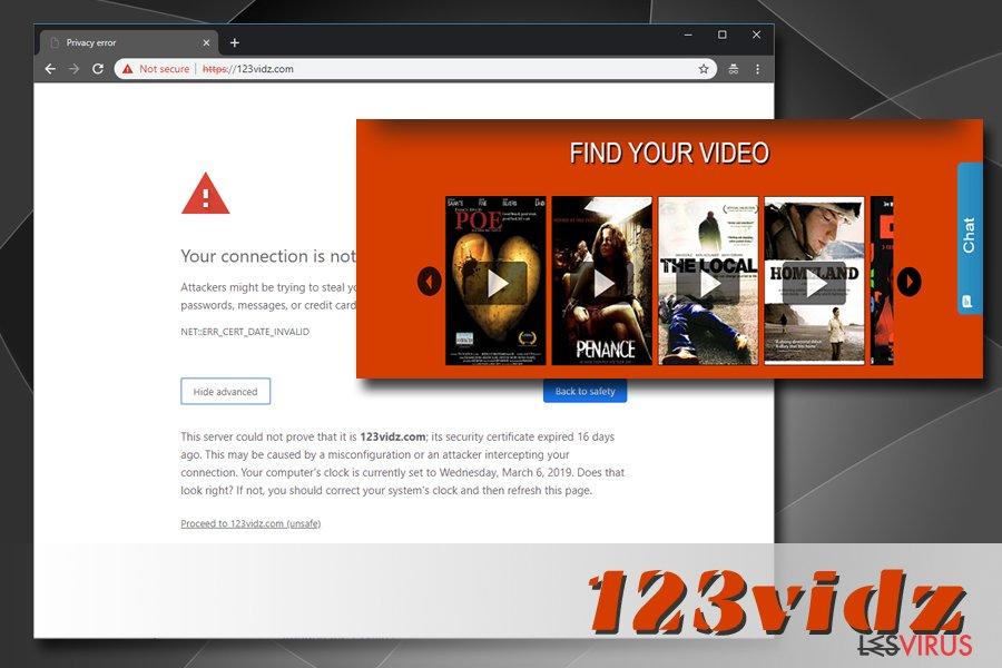 l'adware 123vidz