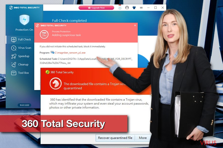 Le virus 360 Total Security instantané