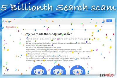 L'arnaque 5 Billionth Search