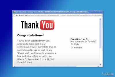 Un exemple de pop-up généré par A.Kaytri.com