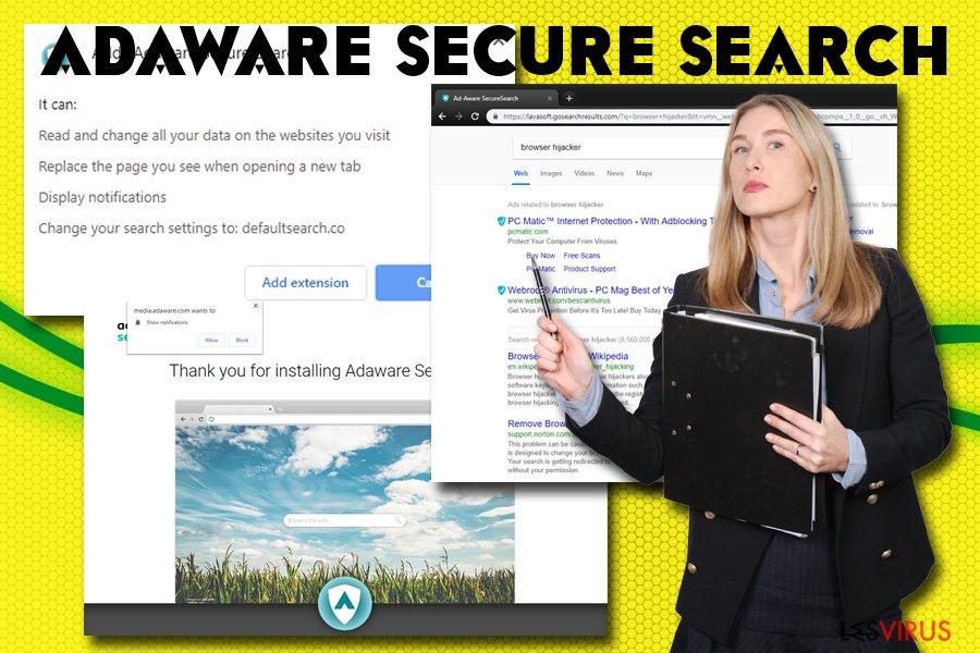 Pirate de navigateur Adaware secure search
