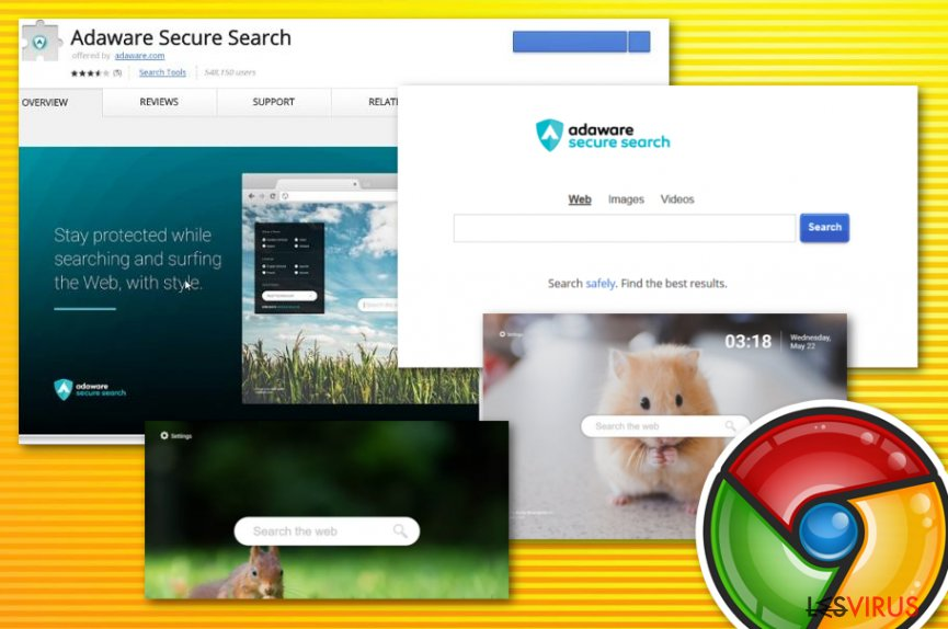 Virus Adware secure search