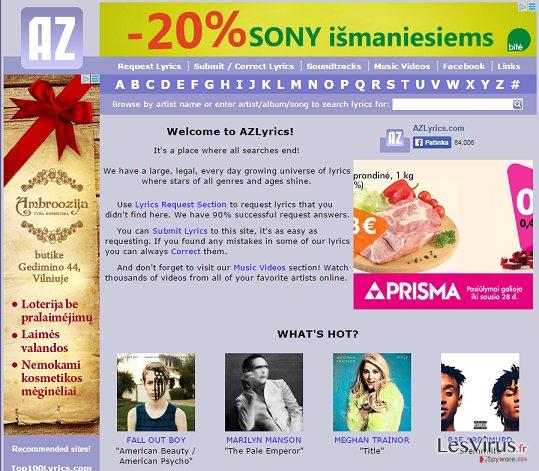 Annonces par AZLyrics instantané
