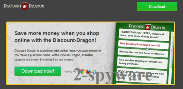 'Ads by Discount Dragon' virus instantané
