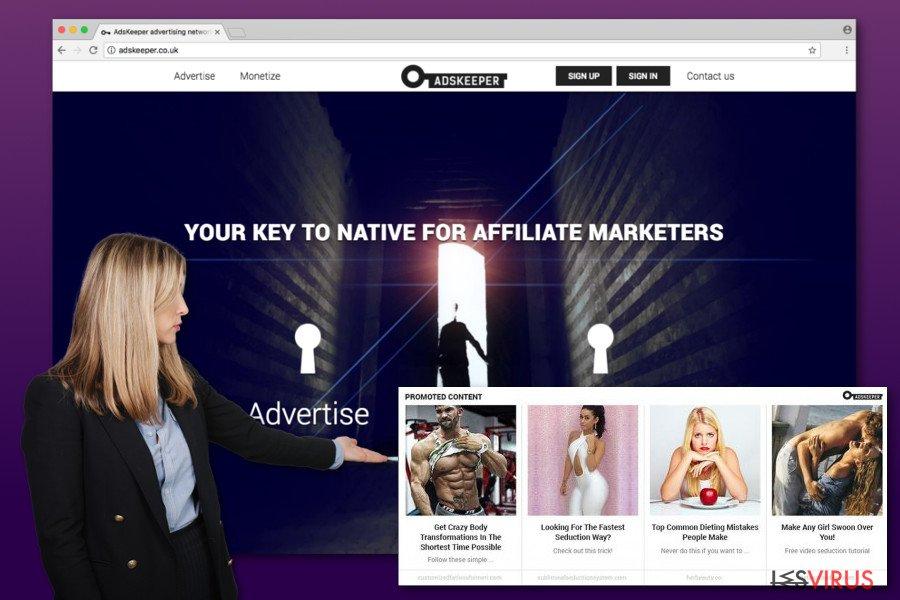 Illustration des annonces d'Adskeeper