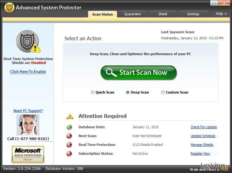 Advanced System Protector instantané