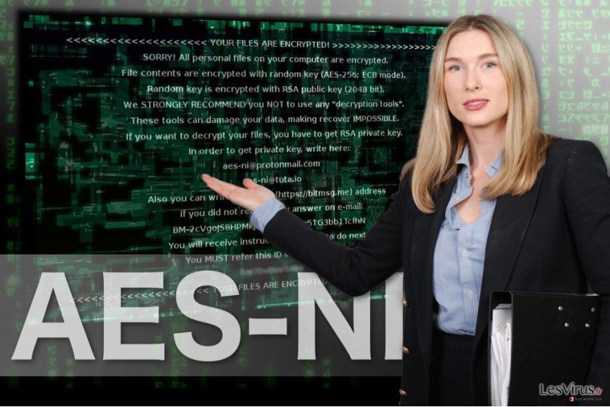 Image du rançongiciel AES-NI