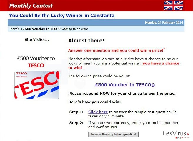 Alert.MyContestWinnerzs.eu pop-up ads instantané