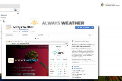 Une image présentant le plug-in Always Weather