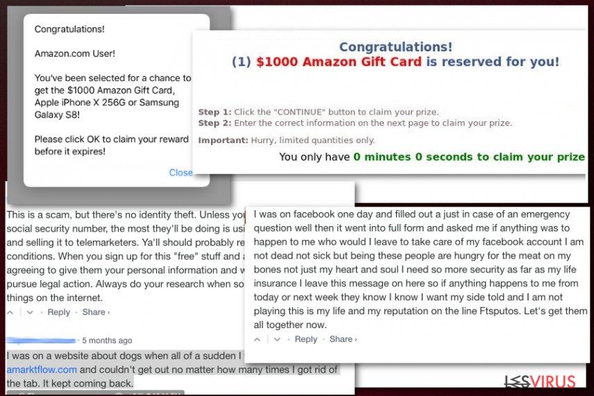 la campagne frauduleuse Amarktflow