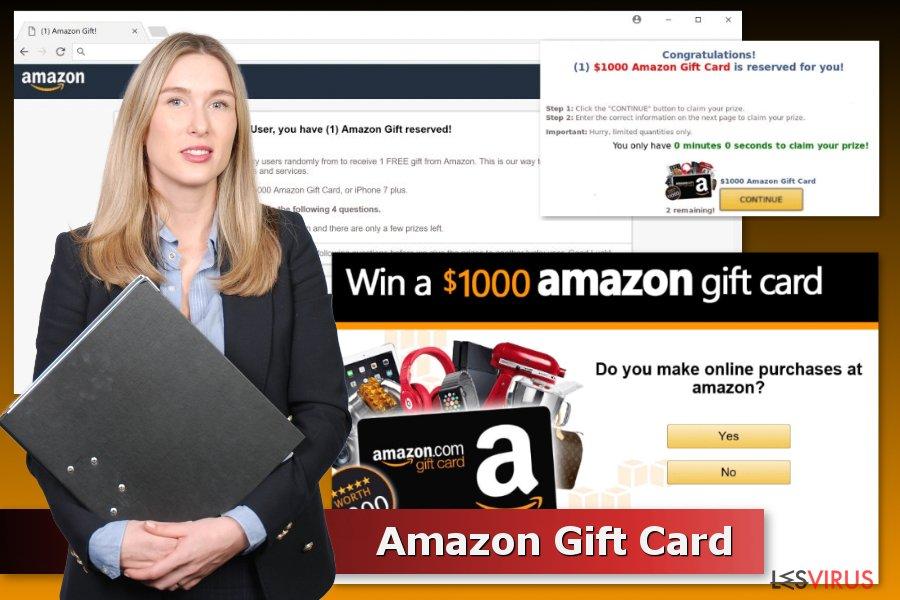 Des exemples du maliciel d'arnaque Carte-cadeau Amazon