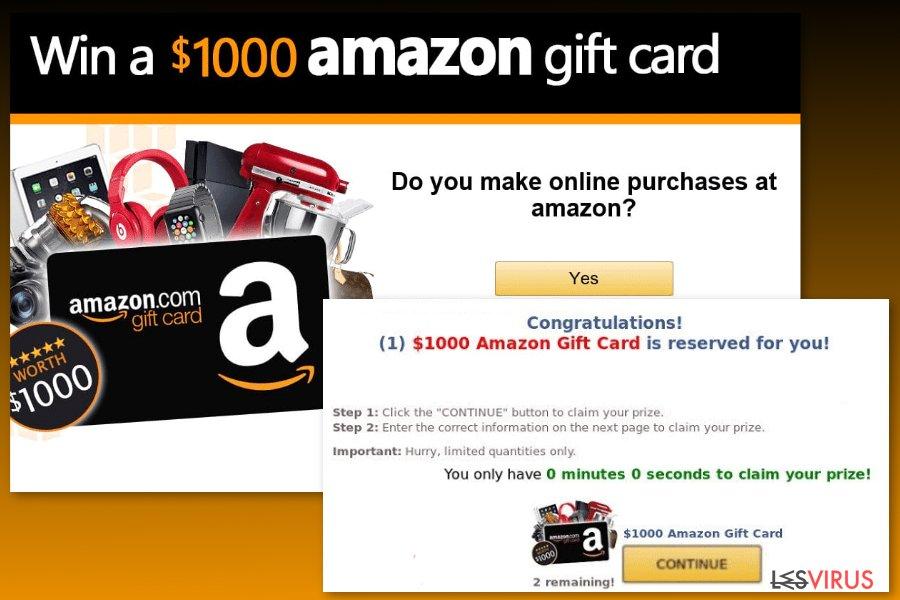 Un modèle du virus Carte-cadeau Amazon