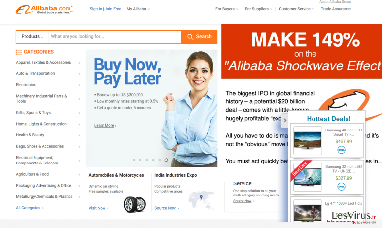 A picture showing what Alibaba ads can be
