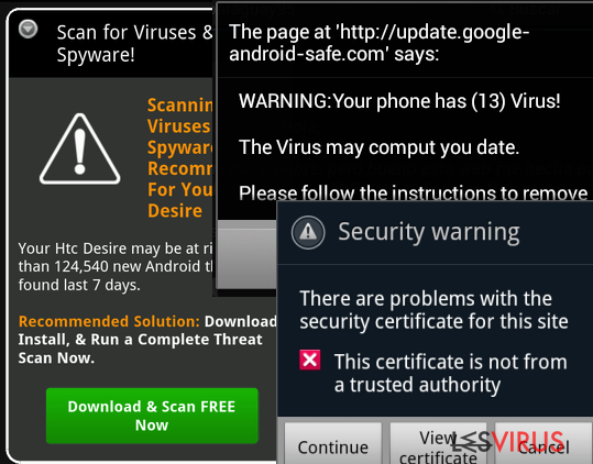 Le virus Android instantané