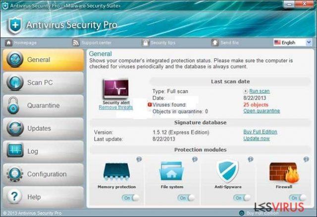 Antivirus Security Pro instantané