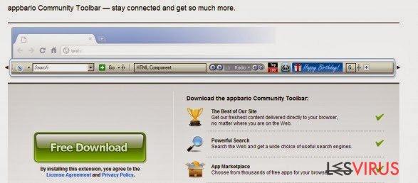 Appbario toolbar instantané