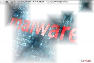 Capture d'écran du virus Apple-panda.com