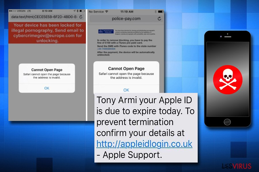 Fraudes de virus Apples sur iPhone