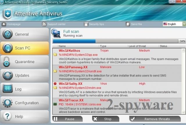 Attentive Antivirus instantané