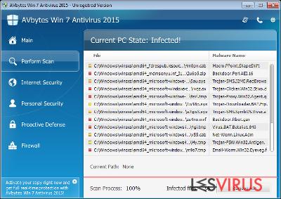 AVbytes Win 7 Antivirus 2015 instantané