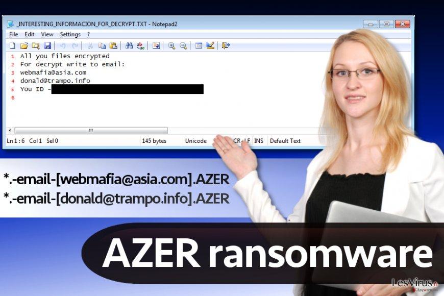 Le virus rançongiciel Azer