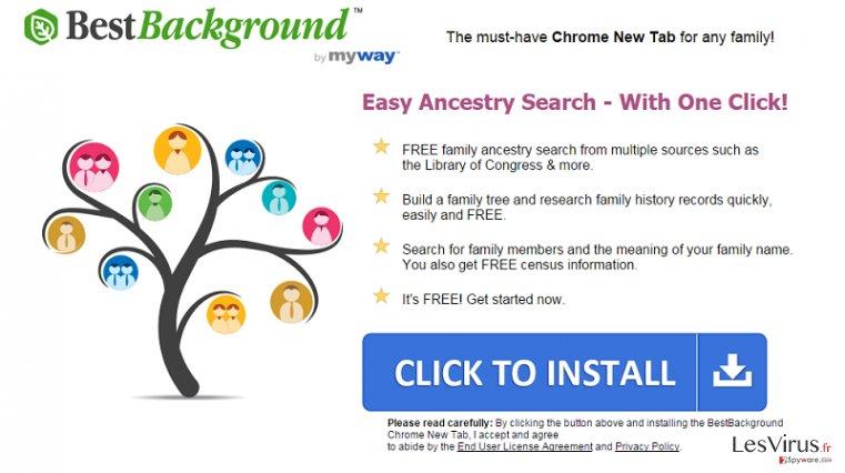 BestBackground Toolbar instantané