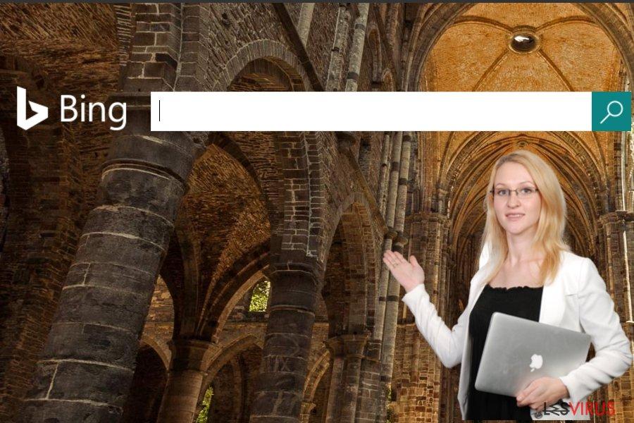 Une capture d'écran du site Bing