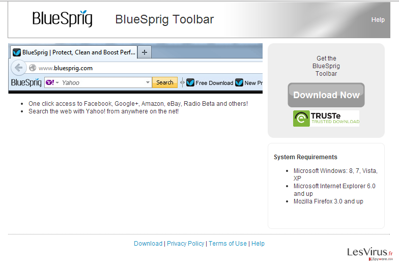 BlueSprig Toolbar instantané