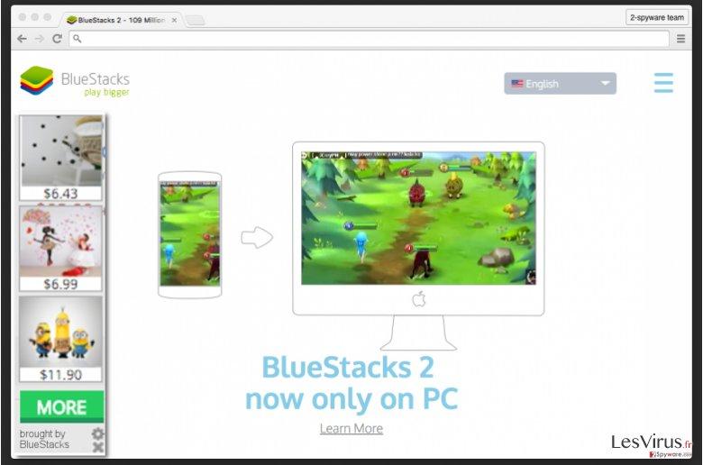BlueStacks adware