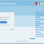 Browser Shop adware instantané