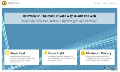 BrowserAir adware