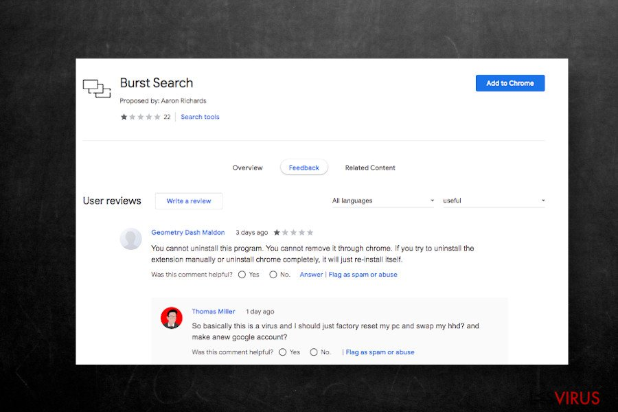 Extension Burst Search