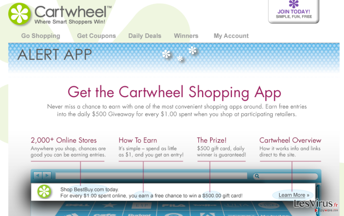Cartwheel Shopping virus instantané