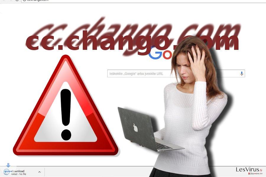 Une capture d'écran du virus cc.chango.com