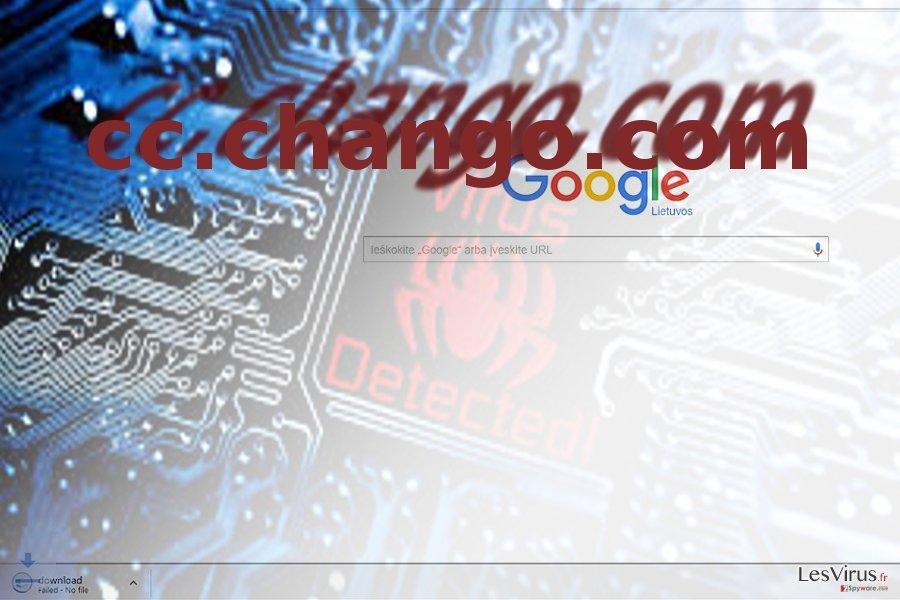 Une image représentant le virus cc.chango.com