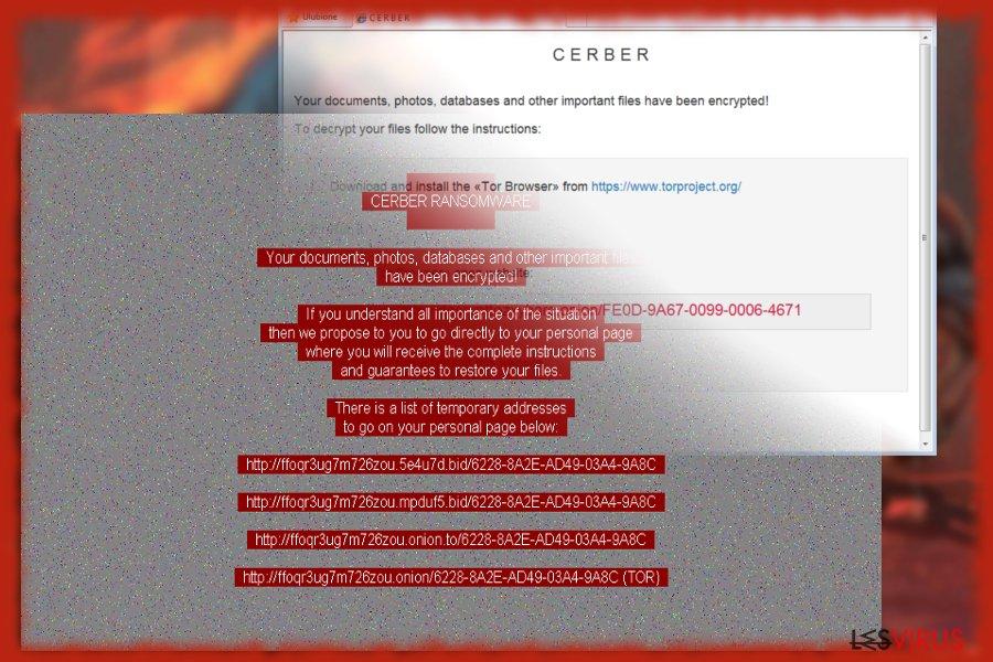 Capture d'écran de Cerber 6