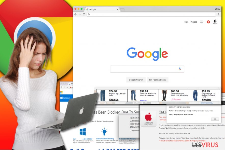 Le virus de type publiciel de Chrome