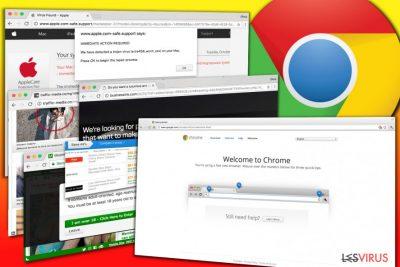 Des exemples d'annonces présentées par le logiciel publicitaire (publiciel) de Chrome