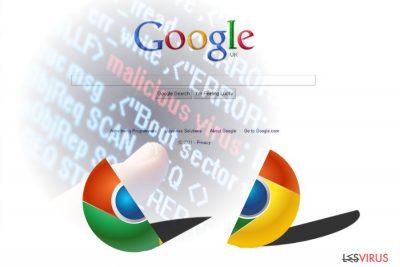 L'image présentant le virus Chrome