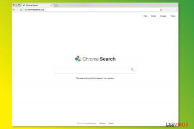 La page d'accueil de ChromeSearch.club