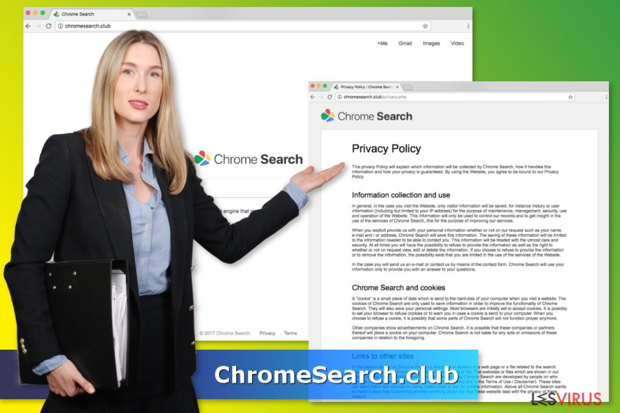 Le virus ChromeSearch.club