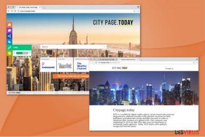 Illustration de Citypage.today