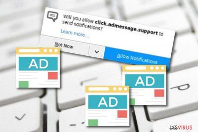 l'adware Click.admessage.support