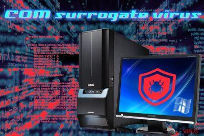 Infection par le virus COM surrogate